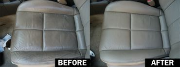 interior detailing before and after car seats